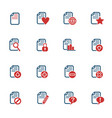 document icon set vector image