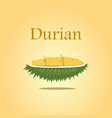 durian design for poster and on vector image vector image