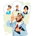 family doctor and his patients vector image