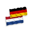 flags netherlands and germany on a white vector image