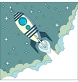 Flying Rocket with space for text vector image vector image