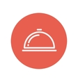 Food cover thin line icon vector image