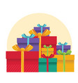gift boxes color presents for design vector image vector image