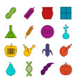 gmo icons doodle set vector image vector image