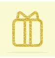 golden figure gift vector image vector image