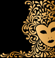 golden mask with ornament vector image vector image