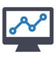 growth increase profit icon vector image vector image