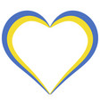 heart shape flag ukraine i love ukraine vector image
