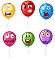 helium balloons with facial expressions vector image