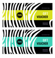 horizontal gift voucher white lines on black vector image vector image
