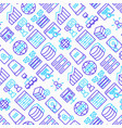 hosting seamless pattern with thin line icons vector image vector image