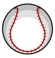 isolated baseball ball icon vector image