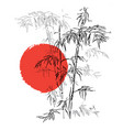 japanese traditional bamboo branches isolated on vector image vector image