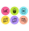 journey path file management and chart icons set vector image vector image
