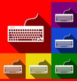 keyboard simple sign set of icons with vector image vector image