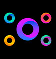 letter o logo colorful circle set color gradient vector image