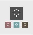 location icon simple vector image vector image