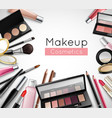 Makeup Cosmetics Accessories Realistic Composition vector image vector image
