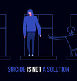 mental disorder suicide vector image