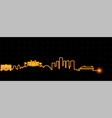 monaco light streak skyline vector image