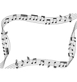music notes flowing along the rim of artboard vector image vector image