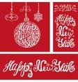 New year cardsLettering typography elementsRed vector image vector image