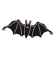 night bat icon simple style vector image