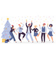 office christmas celebration happy business team vector image vector image