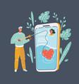 online dating app concept vector image vector image