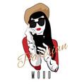 parisian mood hand drawn girl vector image