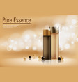 perfume contained on bronze background with soft vector image vector image