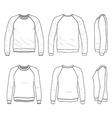 Raglan sweatshirt vector image vector image