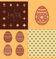 seamless pattern lettering and colorful easter vector image vector image