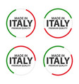 set of four italian icons made in italy premium vector image vector image