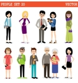Set of modern people vector image vector image