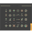 set og shapes vector image vector image
