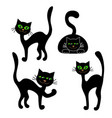 shape of a black cat isolated on white background vector image vector image