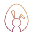silhouette easter rabbit vector image