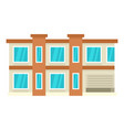 smart city house icon flat style vector image vector image