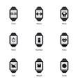 Smart watch with fitness icons vector image vector image