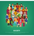 Society Concept vector image vector image