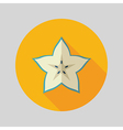 Starfruit Carambola Carom icon Tropical fruit vector image vector image