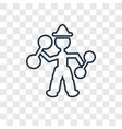 strongman man concept linear icon isolated on vector image vector image
