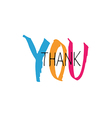 thank you lettering colorful vector image vector image