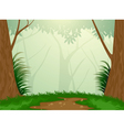 Tropical evergreen forest vector image vector image