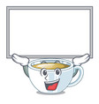 up board ginger tea in a glass mascot vector image