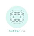 vampire teeth icon line element vector image