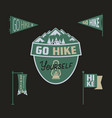 vintage camp pennants and logos collection go vector image vector image