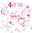 wine splash and blots concept vector image vector image