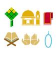 ramadan flat icon vector image